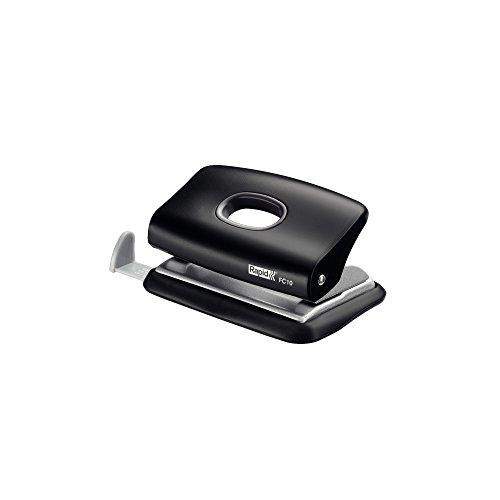 Rapid 23638501 Mini-Locher (10 Blatt, Anschlagschiene mit Formatvorgaben, Metall, FC10) schwarz