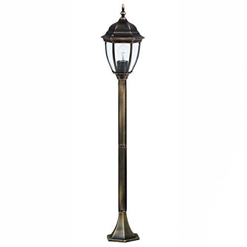 *Hochwertige LED Energiespar-Aussenstehlampe 12 Watt in edlem Antik-Gold Stehleuchte*