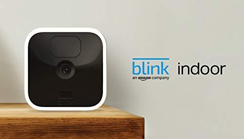Blink Indoor | Cámara de seguridad HD inalámbrica con 2 años de autonomía, detección de movimiento, audio bidireccional | 4 cámaras