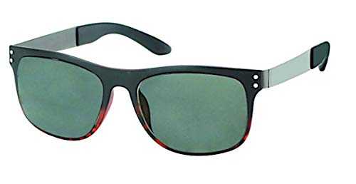 Chic-Net Animal Print 400 puntos gafas de sol UV Nerd Wayfarer teñido soporte de metal gris
