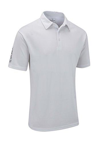 Stuburt Men's Sport Tech Polo Shirt-White, Medium