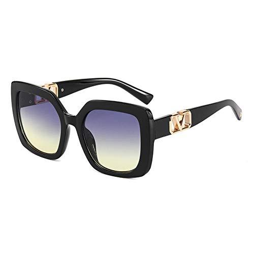 Gafas De Sol Hombre Mujeres Ciclismo Gafas De Sol para Mujer Gafas De Sol De Moda Retro Gafas Grandes para Hombre Sombras Gafas De Espejo-9401-3