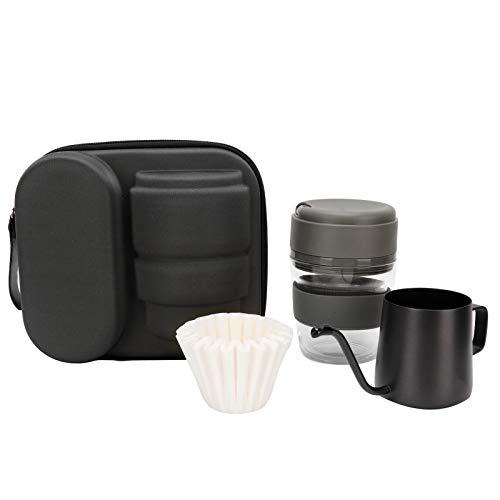Eosnow Zestaw ekspresów do kawy parzonej ręcznie, wytrzymały, nadaje się do podróżnego parzenia kawy (szary)