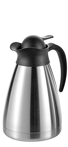 Esmeyer Isolierkanne Thermoart 1 Liter, Edelstahl, Silber/schwarz