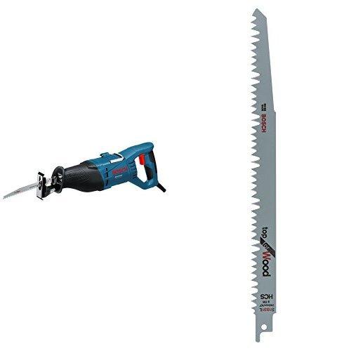 Bosch Professional GSA 1100 E - Sierra sable (1100 W, 0 ? 2700 cpm, profundidad de corte 230 mm, en maletín) + Hoja de sierra sable S 1531 L - Top for Wood (pack de 2)