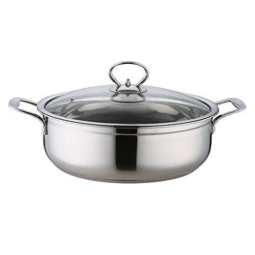 Chenbz Sopa de olla de acero inoxidable 304 espesado inferior en caliente Pot Inicio antiadherente utensilios de cocina cocina de gas Olla aplicable regalo del día del padre Día de la Madre
