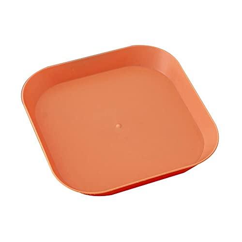 YUQINT 5 platos cuadrados de plástico para alimentos para niños pequeños, platos irrompibles para cocina, aperitivos, pastas, frutas, almacenamiento reutilizable (color: naranja)