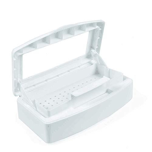 YoleShy Professional Plastic Sterilizing Tray, Clean Sterilizer Box Storage Organizer for Nail, Tweezers, Hair Salon, Spa & Cutter Manicure Equipment - Nail Art Tool