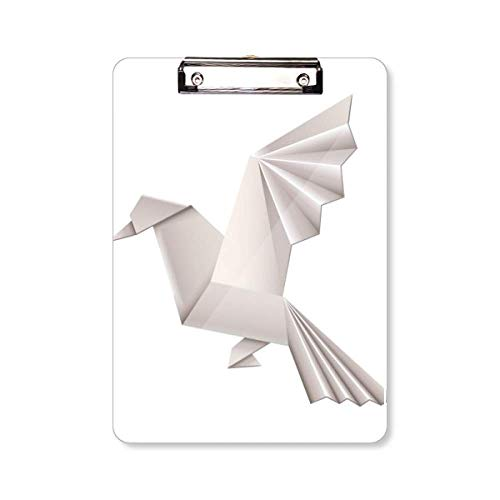Origami Abstract Geometrische Duif Patroon Klembord Folder Schrijven Pad Achterplaat A4