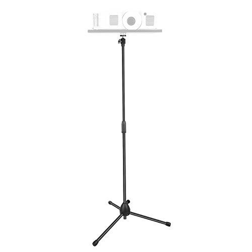 Neewer verstellbar Projektor Stativ Bodenständer für Projektor Fachhalter, Lautsprecher Gestell, Digitalkameras Camcorder-Spiegelreflexkameras mit 1/4 Zoll Schraubenloch (nur Ständer)