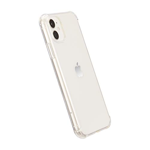 Amazon Basics Coque pour iPhone 11 en TPU (Transparent), coque transparente protectrice pour téléphone portable, anti-rayures