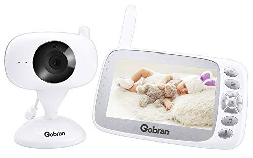 Baby Monitor Schermo 4.3'' HD LCD Espandibile 2 Telecamere,Gobran Videosorveglianza Videocamera Babyphone,Visione Notturna,VOX Attivazione Vocale,Audio Bidirezionale,Sensore Temperatura,Ninnananne