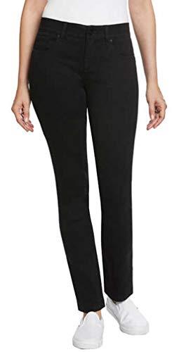 Jones New York Ladies Comfort Waist Jean (4, Black)