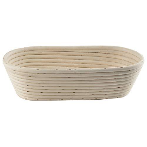 ORION Gärkörbchen Brotteig Gärkorb Brotform aus Rattan für hausgemachtes ovales Brot 32 x 15 cm, Höhe 9 cm