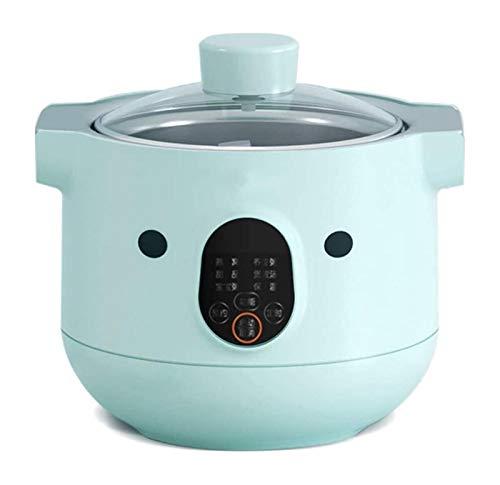 X-LSWAB Vollautomatische Elektro Slow Cooker Fine Porcelain Liner/Circulation Heizung 24 Stunden Reservierung Porridge Suppe und Dünsten Geeignet for Home Küche wohlschmeckend (Color : A)