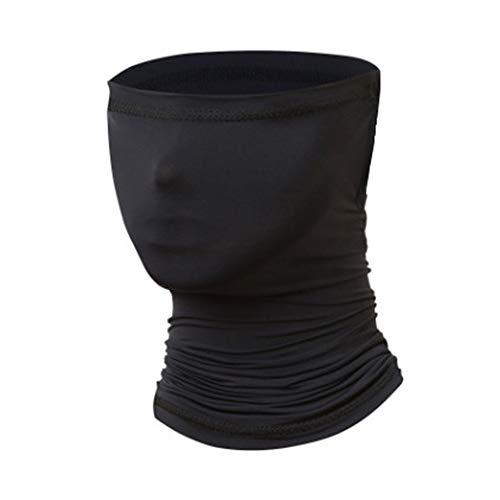 Guffo Multifunktionstuch Schlauchschal for Herren&Damen,Cool atmungsaktiv Weich Tuch mundschutz,Sonnenschutz Schlauchschal Halstuch Maske(schwarz)