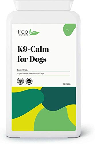 K9-Calm Pet Calming 120 Chicken Flavour Tablets | Support For Nervous Dogs | UK Manufactured