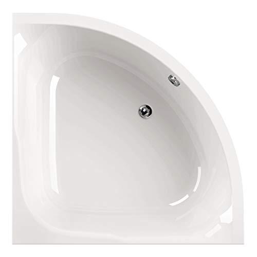 Calmwaters® Raumsparende Eckbadewanne 120x120 cm, Acrylwanne Modern Small 2 für zwei Personen, Duowanne aus Acryl, Maße 120 x 120cm, Weiß - 02SL2970