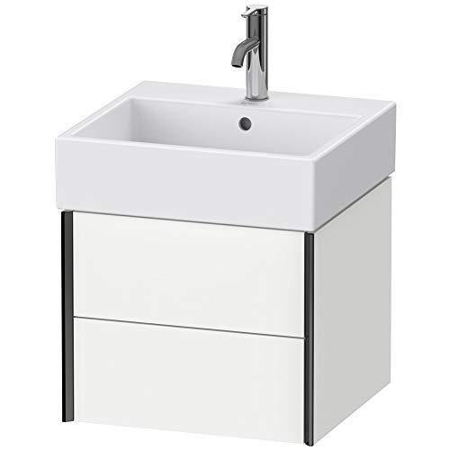 Duravit XViu 4333 Inbouwmeubel voor wandmontage, 2 lades, voor wastafel Vero Air 235050, 484x454 mm, Kleur (voorzijde/karkas): zwartmat/witte mat - XV43330B218