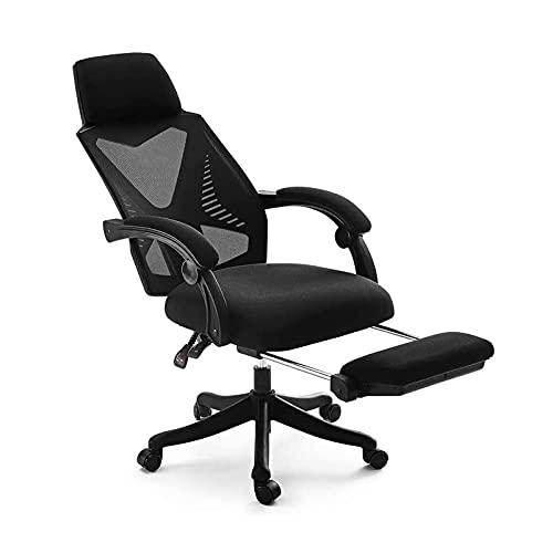 オフィスチェア 社長椅子 パソコンチェア 140度リクライニングチェア ゲーミングチェア 調節可能 ヘッドレスト及びアームレスト付き 腰サポー 人間工学椅子 事務椅子 父の日 ブラック