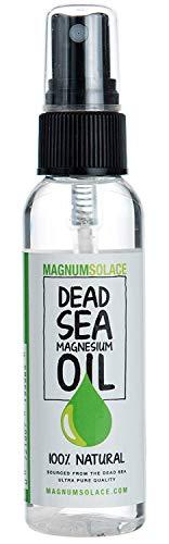 Magnesiumöl Spray 100% reine und natürliche Mineralien aus dem Toten Meer - hervorragende Premium-Herkunft - in den USA hergestellt - 60 ml (2 oz)