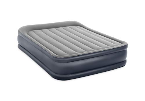 Intex Dura-Beam Standard Series Deluxe Pillow Rest Raised Airbed with Internal Pump, Queen