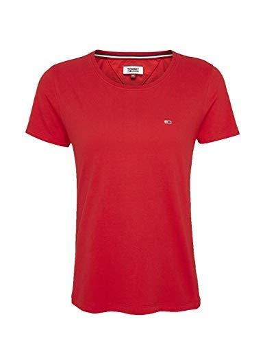 Tommy Hilfiger Tjw Soft Jersey tee Ropa Deportiva de Punto, Rojo (Deep Crimson Xnl), 40 (Talla del Fabricante: Large) para Mujer