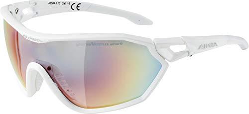 ALPINA S-WAY QVM+ Sportbrille, Unisex– Erwachsene, white matt, one size