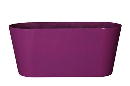 Art en Vogue Pot de Fleurs, Coupe de Fleurs Claire, Finition Brillante, Violet, 38x16x17cm