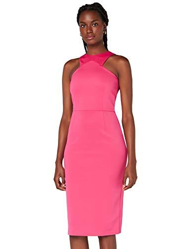 Marca Amazon - TRUTH & FABLE Vestido Mujer Asimétrico, Rosa (Pink), 44, Label: XL