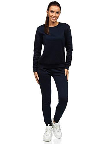 BOLF Conjunto de Chandal para Mujer Jogging Set Sport Fitness Running Yoga Gym Sportswear J.Style 0001 Azul Oscuro S [H8H]