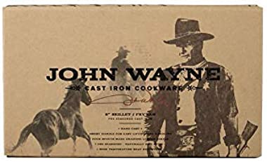 """John Wayne (10"""" Cast Iron Round Griddle Fry Pan)"""
