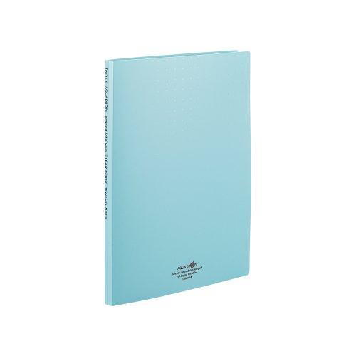 リヒトラブ クリヤーブック 交換式 N5015-28 A4 30穴 15ポケット 青緑