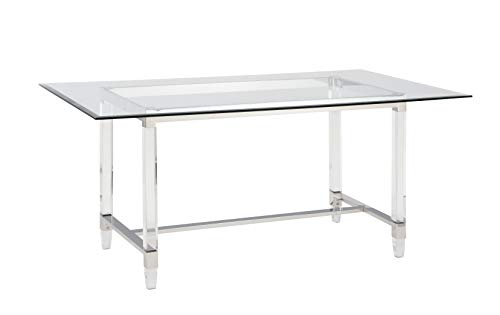 Best Quality Furniture Dining Tables, Clear glass