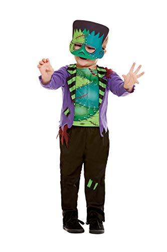 Smiffys 50793T2 - Disfraz infantil de monstruo para niños (3-4 años), color verde