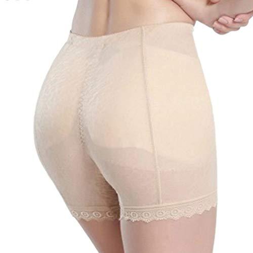 FENTINAYA Mi Taille abondante Faux Fesses Pad Pantalon Hanche Culotte de contrôle Sexy Dentelle Respirant Fesses sous-vêtements