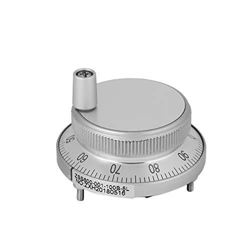 BiuZi Impulsgeber 5 V 60 MM Handrad CNC-System Manuelle Impulsgeber Mühle Router Manuelle Steuerung (Weiß)
