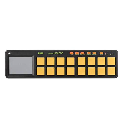Korg nanoPAD2 Slimline USB-MIDI 16-Pad Controller, Orange/ Grün
