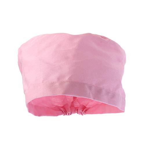 PRETYZOOM Peeling Kappe OP Haube Chirurgische Kappe Baumwolle Runde Scrub Cap Krankenschwester Cap Medical Cap für Frauen Männer Ärzte Zahnärzte Küche Rosa