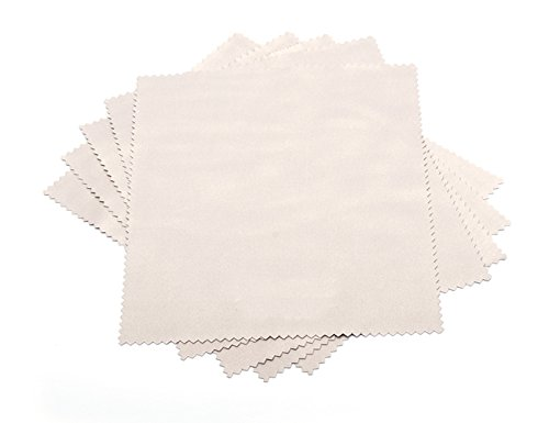 ZLMC ?5pcs? Microfiber Cleaning Cloth to Clean Eyeglasses, Lens, Computer, TV, LCD screens,Tablet, Laptop, Cell Phone - Screen Cleaner Cloths Safe for Any Delicate Surfaces