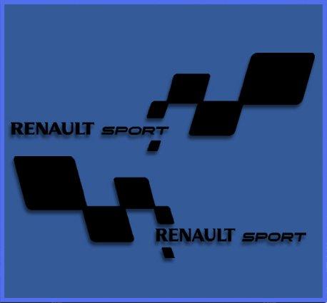 Ecoshirt DS-5R65-RSBT Pegatinas Renault RS 33 Dr1018 Vinilo Adesivi Decal Aufkleber Клей Stickers Car Voiture Sport Racing, Negro