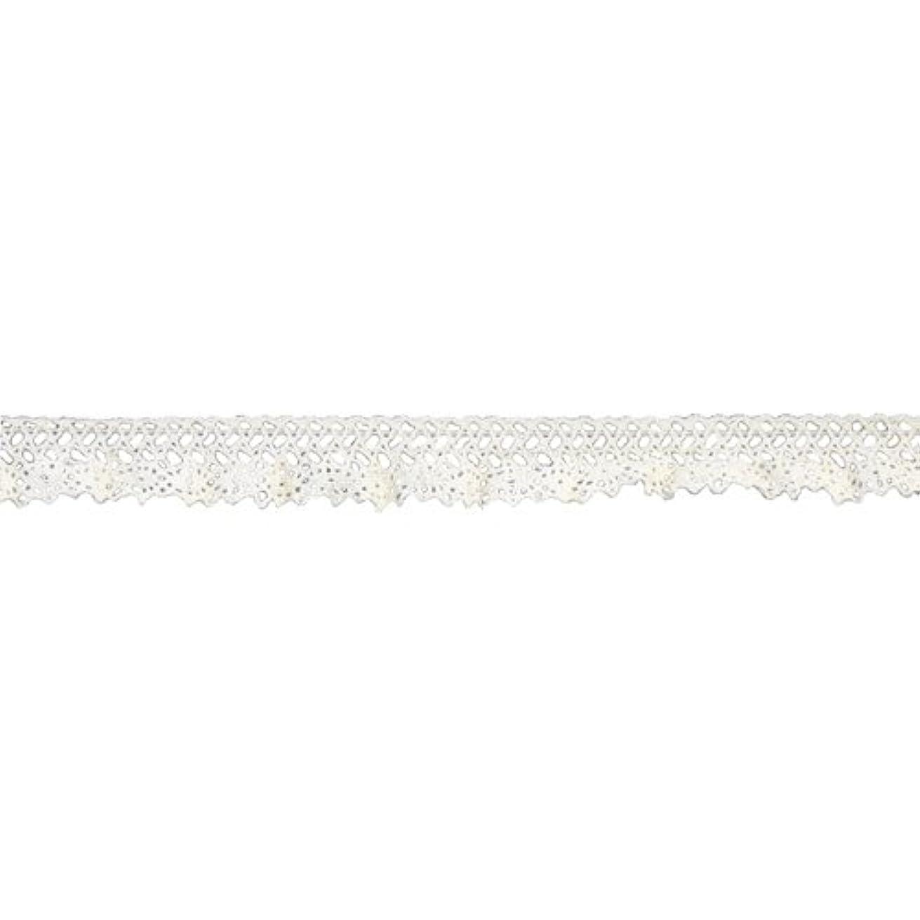 Belagio Enterprises 3/4-inch Cotton Venise Stretch Lace Trim 10 Yards, Ivory
