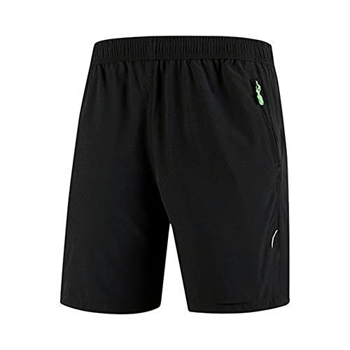 N\P Más el tamaño pantalones cortos de los hombres ocasionales pantalones cortos masculinos flojo secado rápido, Negro, 8X-Large