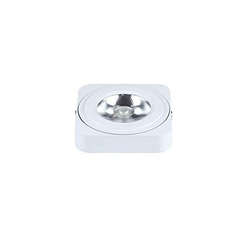Liunce 3W 5W Lingt Square Foco pequeño Ultrafino Luz de Techo LED montada en Superficie Downlight de Techo Mini Foco Simple 3000K Luz cálida 6000K Luz Blanca COB