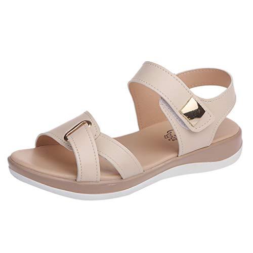 Fannyfuny_Zapatos de Verano Sandalias Mujer Sandalias de Tacón Sandalias de Vestir Sandalias Mujer Cuña Sandalias Bohemia Mujer, Zapatos Mujer Verano 2019 Sandalias y Chanclas Mujer 35-40