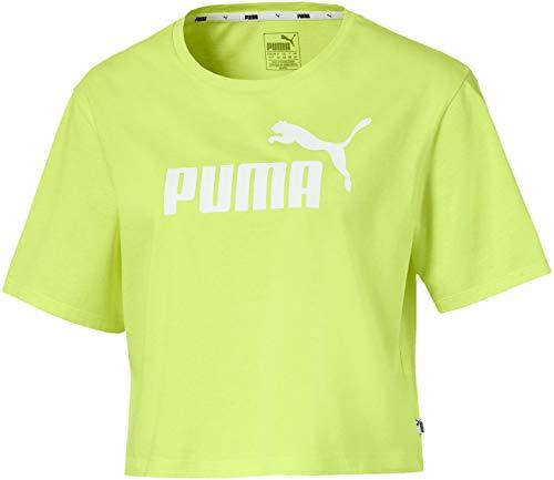 PUMA ESS Crpd Logo - Camiseta de Manga Corta Mujer