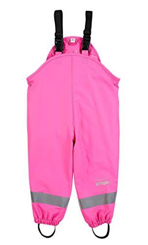 Sterntaler Mädchen Regenhose mit Hosenträgern, Gefüttert, Alter: 3-4 Jahre, Größe: 104, Pink