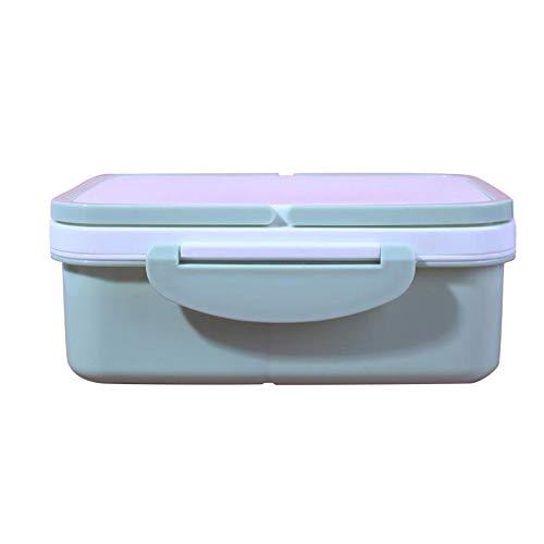 siqiwl Caja de almuerzo de material saludable caja de almuerzo de paja de trigo Bento cajas de microondas Vajilla portátil contenedor de almacenamiento de alimentos