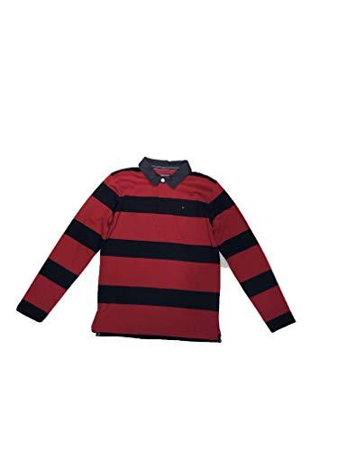 Tommy Hilfiger - Polo, niños, color- Rojo, talla- 14