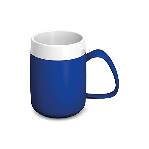 Ornamin Becher mit Trink-Trick und Thermofunktion 140 ml blau (Modell 207) / Thermobecher, Spezial-Trinkhilfe, Schnabelbecher